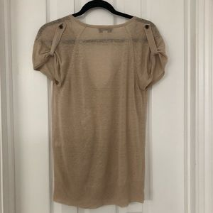 Isaac Mizrahi for Target Beige V-Neck Sweater